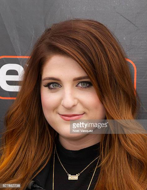 Meghan Trainor visits 'Extra' at Universal Studios Hollywood on May 3 2016 in Universal City California