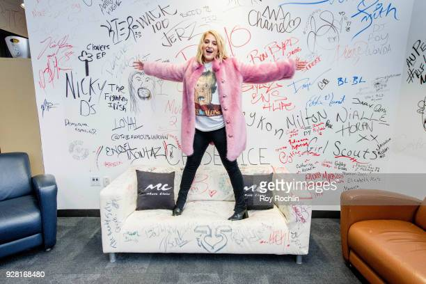 Meghan Trainor visits Music Choice at Music Choice on March 6 2018 in New York City