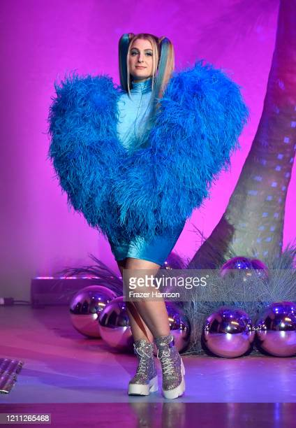 Meghan Trainor walks the runway at the 2020 Christian Cowan x The Powerpuff Girls on March 08 2020 in Los Angeles California