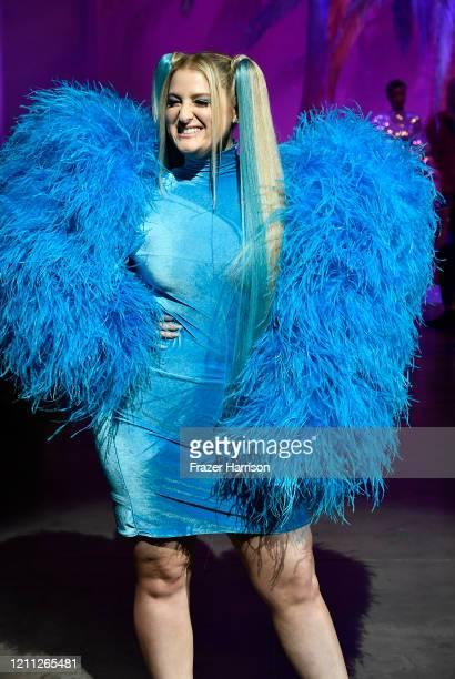 Meghan Trainor walks the runway at the 2020 Christian Cowan x The Powerpuff Girls on March 08, 2020 in Los Angeles, California.