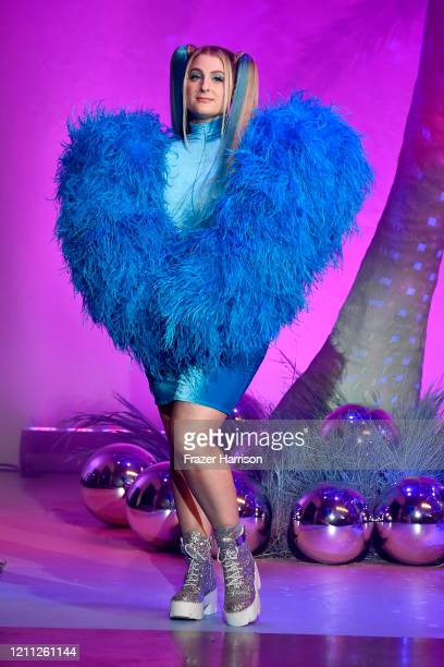 Meghan Trainor walks the runway during the 2020 Christian Cowan x Powerpuff Girls Runway Show on March 08 2020 in Hollywood California