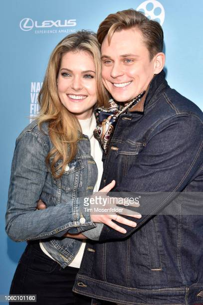 Meghann Fahy and Billy Magnussen attend the Rising Star Showcase during the 2018 Napa Valley Film Festivalon November 10 2018 in Napa California