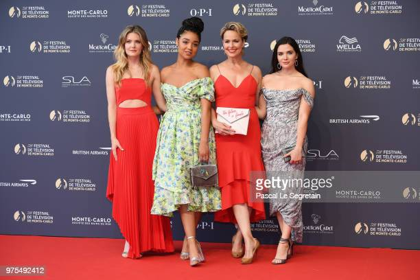 Meghann FahyAisha DeeMelora Hardin and Katie Stevens attend the opening ceremony of the 58th Monte Carlo TV Festival on June 15 2018 in MonteCarlo...