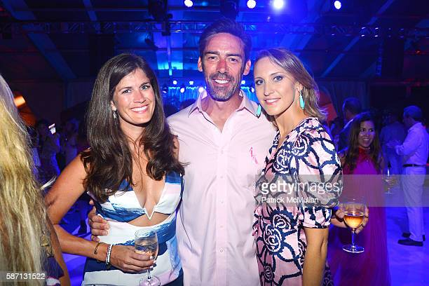 Meghann Gunderman Jason Sehorn and Kinga Lampert attend the 2016 Hamptons Paddle Party for Pink Benefiting the Breast Cancer Research Foundation at...