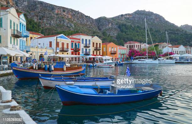 megisti - greek islands stock pictures, royalty-free photos & images