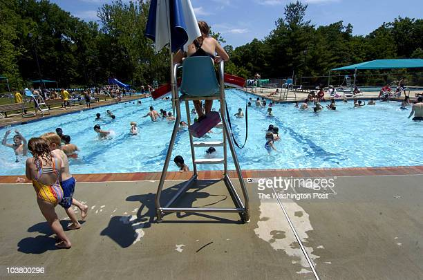 {ME/guard} DATE {June} {20} {2006} CREDIT {Katherine Frey} / TWP {Chevy Chase} {MD} Julia Jurgovan takes the chair at Bethesda Pool She's a firstyear...