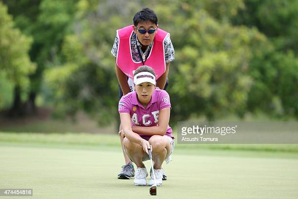 Megumi Kido of Japan lines up for her birdie putt during the second round of the Chukyo Television Bridgestone Ladies Open at the Chukyo Golf Club...