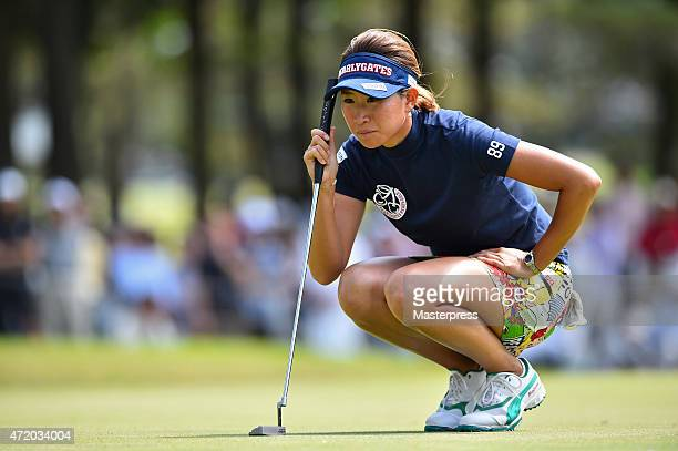 Megumi Kido of Japan lines up on the 16th green during the third round of the CyberAgent Ladies Golf Tournament at the Tsurumai Country Club West...
