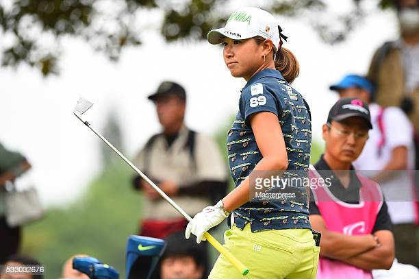 Megumi Kido of Japan looks on during the first round of the Chukyo Television Bridgestone Ladies Open at the Chukyo Golf Club Ishino Course on May 20...