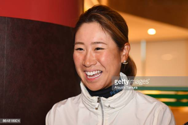 Megumi Kido of Japan smiles during the final round of the Nobuta Group Masters GC Ladies at the Masters Golf Club on October 22 2017 in Miki Hyogo...