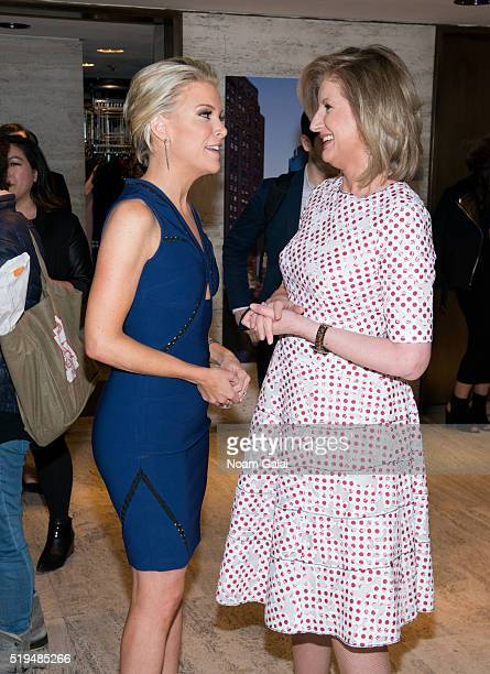 Megyn Kelly and Arianna Huffington attend The Hollywood Reporter's 2016 35 Most Powerful People in Media at Four Seasons Restaurant on April 6 2016...