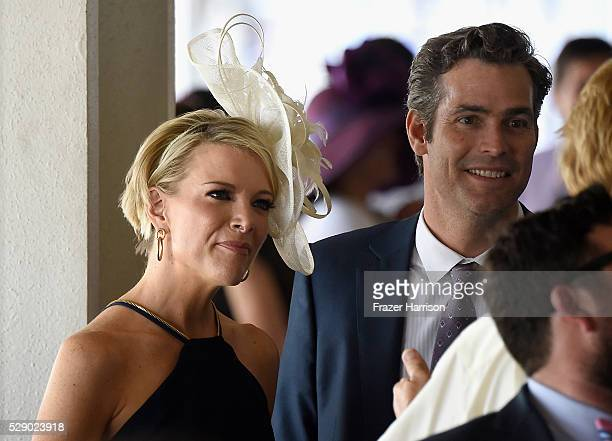 Megyn Kelly and Douglas Brunt are seen around the 142nd Kentucky Derby at Churchill Downs on May 7 2016 in Louisville Kentucky