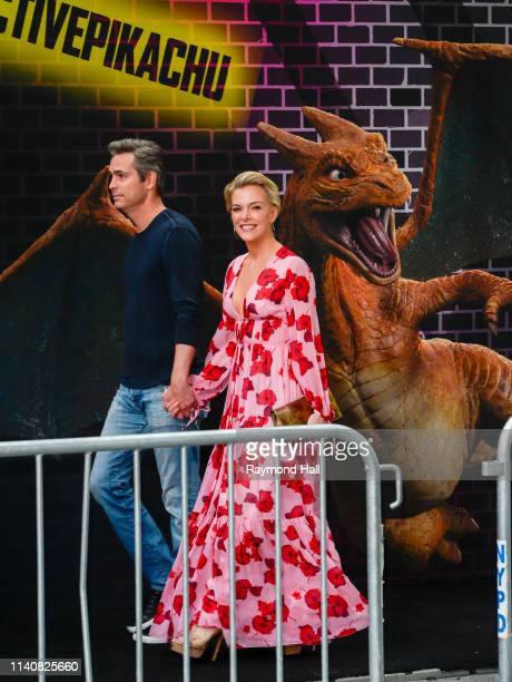 "Megyn Kelly and Douglas Brunt attend the premiere of ""Pokemon Detective Pikachu"" at Military Island - Times Square on May 2, 2019 in New York City."