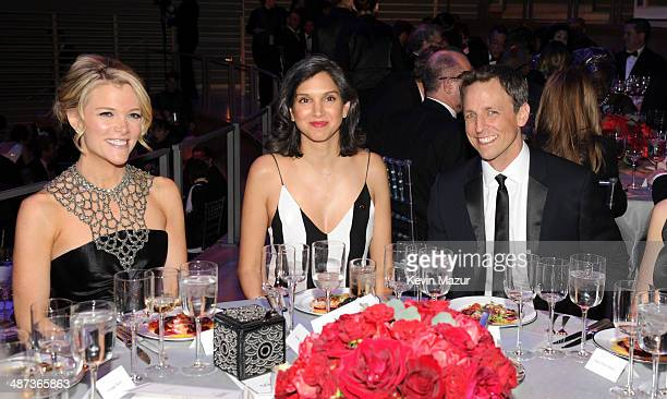 Megyn Kelly and Seth Meyers attend the TIME 100 Gala TIME's 100 most influential people in the world at Jazz at Lincoln Center on April 29 2014 in...