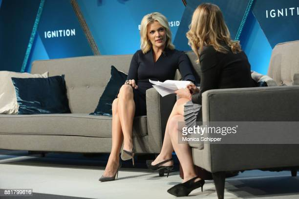 Megyn Kelly NBC News Anchor and host of Megyn Kelly Today speaks onstage with Alyson Shontell at IGNITION Future of Media at Time Warner Center on...