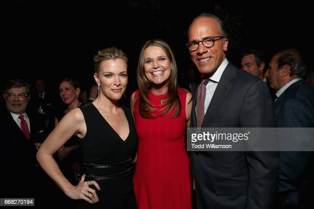 Megyn Kelly Savannah Guthrie and Lester Holt attend The Hollywood Reporter 35 Most Powerful People In Media 2017 at The Pool on April 13 2017 in New...