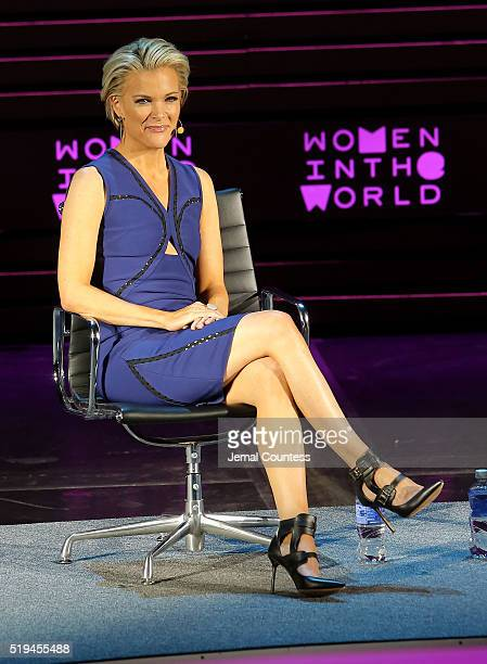Megyn Kelly speaks onstage at Tina Brown's 7th Annual Women In The World Summit Opening Night at David H Koch Theater at Lincoln Center on April 6...
