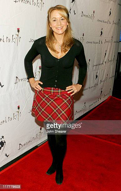 Megyn Price during Johnnie Walker Presents Dressed to Kilt Arrivals and Backstage at Smashbox Studios in Los Angeles CA United States