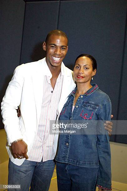 Mehcad Brooks and Alberta Bledsoe during NAACP Diversity Symposium February 25 2006 at Shrine Auditorium in Los Angeles California United States