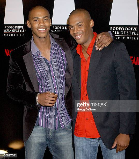 Mehcad Brooks and brother Billy during 2006 Rodeo Drive Walk of Style Awards Arrivals at Historic Beverly Hills Post Office in Beverly Hills...