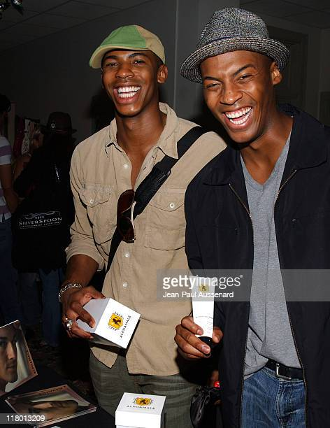 Mehcad Brooks and guest at Alphamale during Silver Spoon Hollywood Buffet Day 1 at Private Residence in Beverly Hills CA United States Photo by...