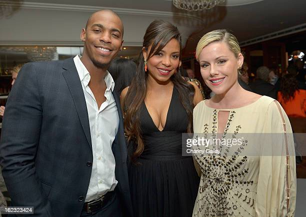 "Mehcad Brooks Sanaa Lathan and Kathleen Robertson attend Vanity Fair and the Fiat brand Celebration of ""Una Notte Verde"" with Hans Zimmer and Ron..."