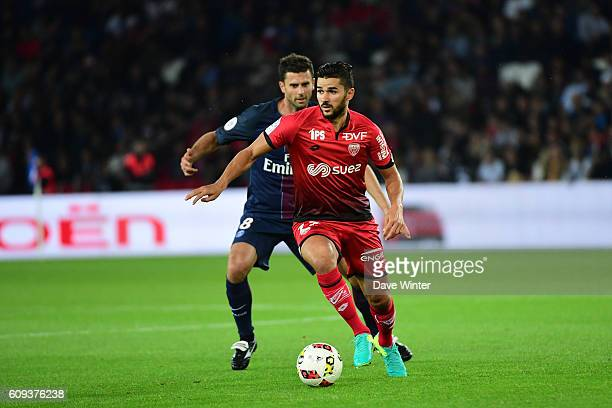 Mehdi Abeid of Dijon during the French Ligue 1 game between Paris SaintGermain and Dijon FCO at Parc des Princes on September 21 2016 in Paris France