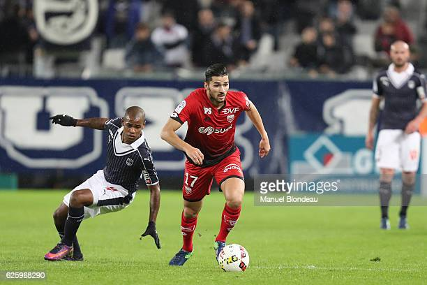 Mehdi Abeid of Dijon during the French Ligue 1 match between Bordeaux and Dijon at Stade Matmut Atlantique on November 26 2016 in Bordeaux France