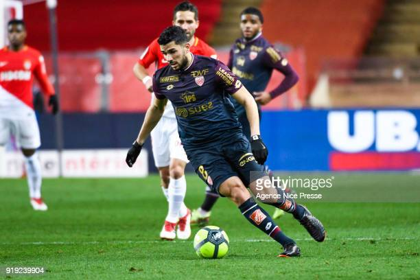Mehdi Abeid of Dijon during the Ligue 1 match between AS Monaco and Dijon FCO at Stade Louis II on February 16 2018 in Monaco