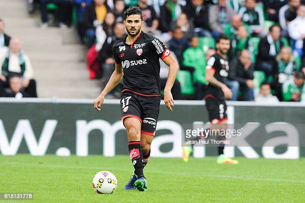 Mehdi ABEID of Dijon during the Ligue 1 match between AS SaintEtienne and Dijon FCO at Stade GeoffroyGuichard on October 16 2016 in SaintEtienne...