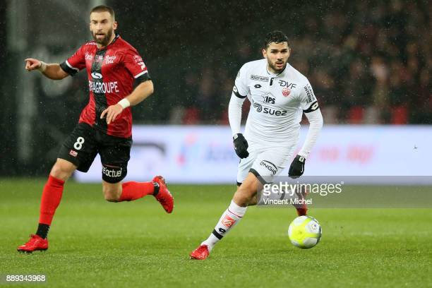 Mehdi Abeid of Dijon during the Ligue 1 match between EA Guingamp and Dijon FCO at Stade du Roudourou on December 9 2017 in Guingamp