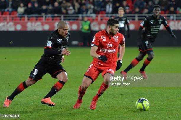 Mehdi ABEID8 during the Ligue 1 match between Dijon FCO and Rennes at Stade Gaston Gerard on January 26 2018 in Dijon