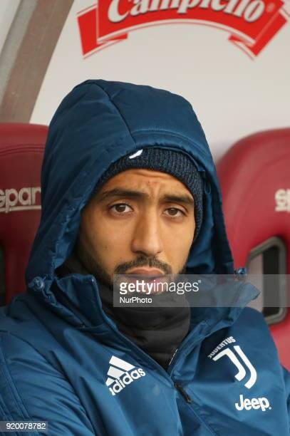 Mehdi Benatia before the Serie A football match between Torino FC and Juventus FC at Olympic Grande Torino Stadium on 18 February 2018 in Turin Italy...