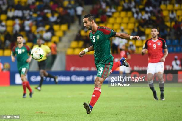 Mehdi Benatia of Morocco during the Quarter Final African Nations Cup match between Morocco and Egypt on January 29 2017 in Port Gentil Gabon