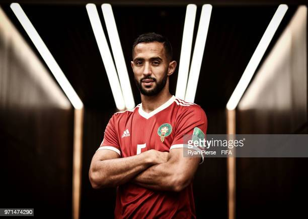 Mehdi Benatia of Morocco poses during the official FIFA World Cup 2018 portrait session on June 10 2018 in Voronezh Russia