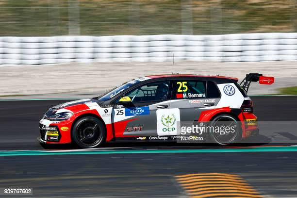 25 Mehdi Bennani from Marrakech of Sebastien Loeb Racing with Volkswagen Golf GTI TCR during the WTCR Official Tests can Circuit de Barcelona...