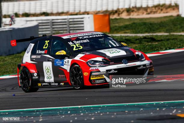 25 Mehdi Bennani from Marrakech of Sebastien Loeb Racing with Volkswagen Golf GTI TCR during the WTCR Official Tests in Circuit de Barcelona...