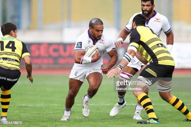Mehdi Boundjema of Angouleme during Pro D2 match between Carcassonne and Soyaux Angouleme on August 24 2018 in Carcassonne France