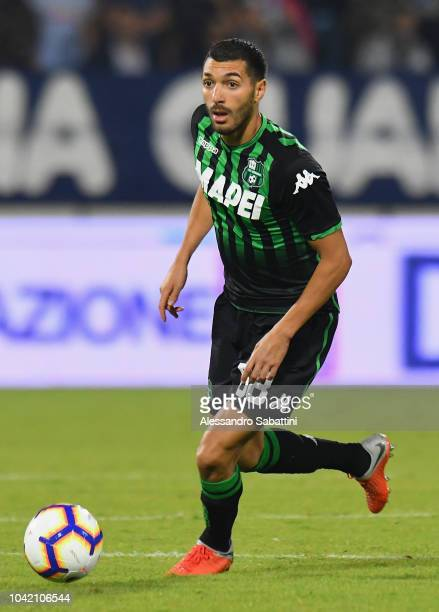 Mehdi Bourabia of Sassuolo in action during the serie A match between SPAL and US Sassuolo at Stadio Paolo Mazza on September 27 2018 in Ferrara Italy
