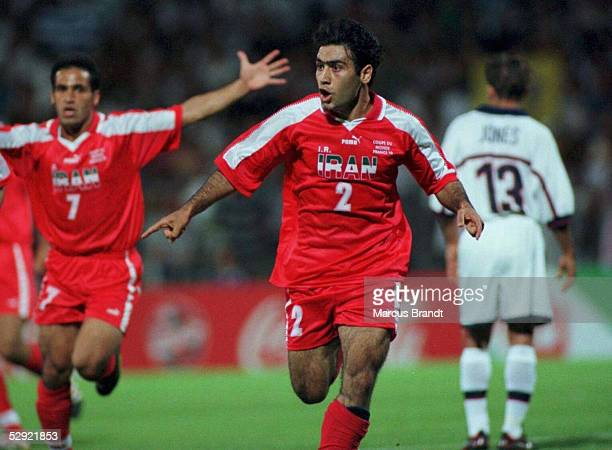 Mehdi MAHDAVIKIA/IRN - Jubel nach seinem Treffer zum 0:2