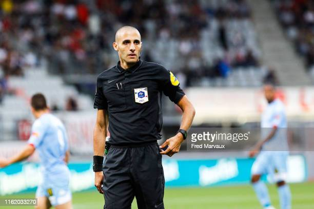 Mehdi Mokhtari referee during the Ligue 2 match between Nancy and Le Mans at Stade Marcel Picot on August 16, 2019 in Nancy, France.