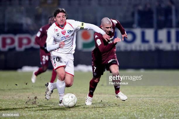 Mehdi MOSTEFA / Vincent BESSAT Metz / Nimes 23eme journee de Ligue 2 Stade Saint Symphorien