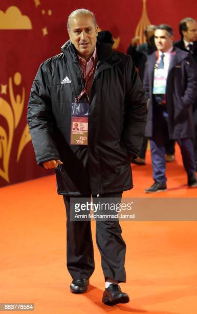 Mehdi Taj president of the Iranian Football Federation arrives prior to the Final Draw for the 2018 FIFA World Cup Russia at the State Kremlin Palace...