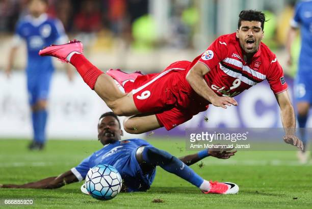 Mehdi Taremi in action during AFC Asian Champions League match between Persepolis vs AlRayyanon April 10 2017 in Tehran Iran