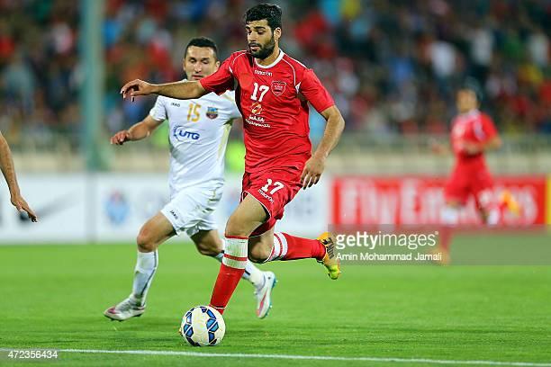 Mehdi Taremi in action during persepolis against Bunyodkor AFC Champions League at Azadi Stadium on May 6 2015 in Tehran Iran