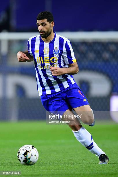 Mehdi Taremi of FC Porto in action during the Liga NOS match between FC Porto and SC Farense at Estadio do Dragao on May 10, 2021 in Porto, Portugal....