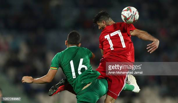 Mehdi Taremi of Iran in action during the international friendly match between Iran and Bolivia at Azadi Stadium on October 16 2018 in Tehran Iran