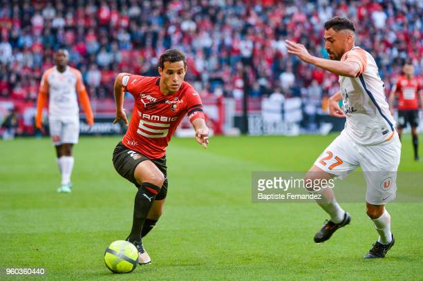 Mehdi Zeffane of Rennes during the Ligue 1 match between Stade Rennes and Montpellier Herault SC at Roazhon Park on May 19 2018 in Rennes