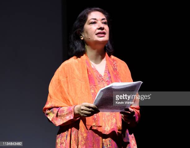Meher Tatna appears onstage at the HFPA Film Restortion Summit The Global Effort to Preserve Our Film Heritage at The Theatre at Ace Hotel on March...