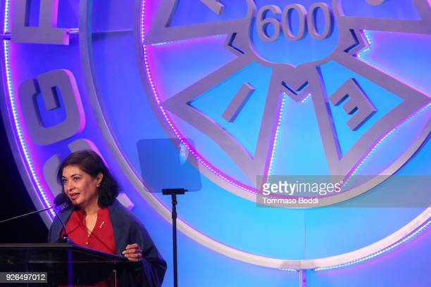 Meher Tatna attends the 55th Annual International Cinematographers Guild Publicists Awards at The Beverly Hilton Hotel on March 2 2018 in Beverly...